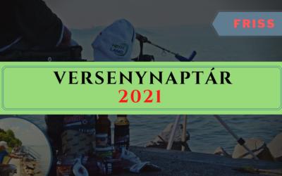 2021-es Horgász Versenynaptár